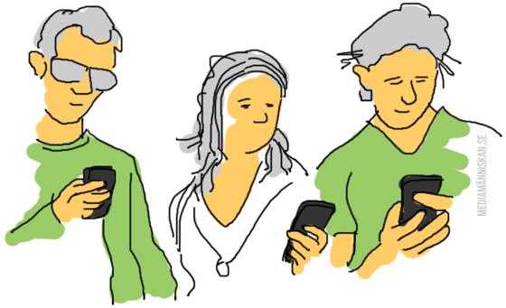 journalister med mobiler