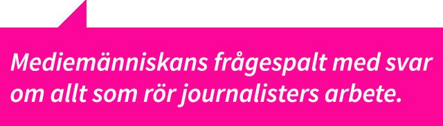 fråga journalist